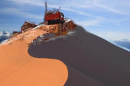 Saharasand am Hohen Sonnblick 1.April 2014