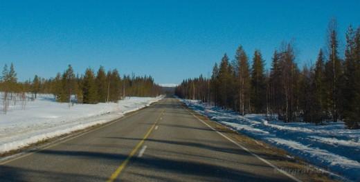 Strasse in Lappland