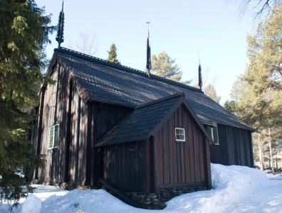 alte Holzkirche in Sodankylä
