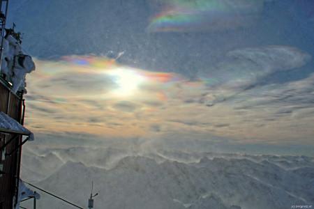 Schneesturm am Alpenhauptkamm