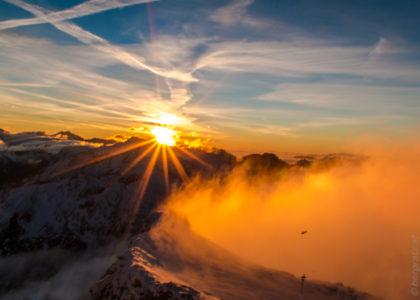 Sonnenaufgang am Mölltaler Gletscher